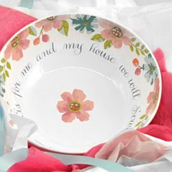 $13.49 Serving Bowl- As for Me and My House we will serve the Lord