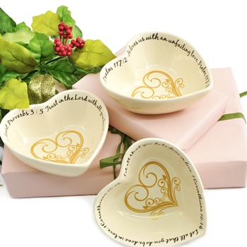 $6.99 Heart Trinket Dish Set