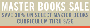 Master Books 30% off thru 9/26