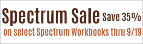 Spectrum Workbooks- 35% Off
