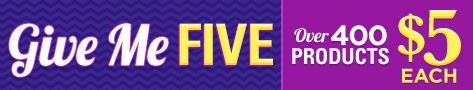Give Me Five! $5 Sale