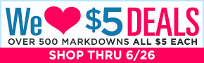 We Love $5 Deals- thru 6/26