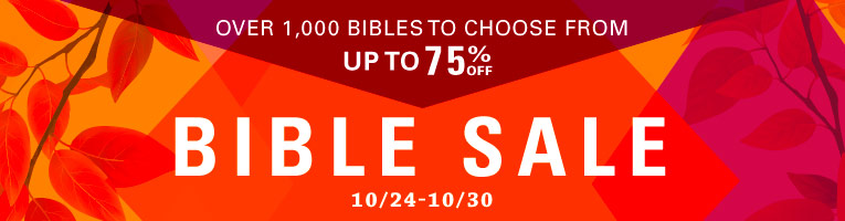 Fall Bible Sale- thru 10/30