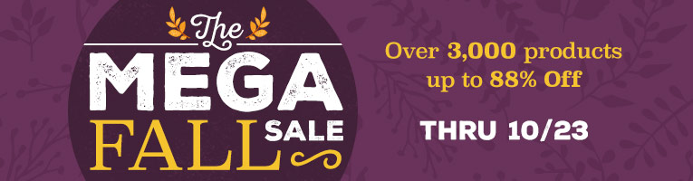 MEGA FALL SALE - Thru 10/23