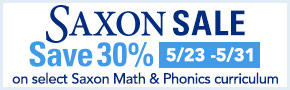 Saxon Curriculum Sale- thru 5/31
