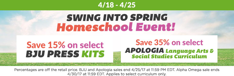 Swing into Spring Homeschool Event