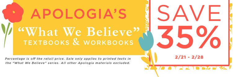 Apologia What We Believe Sale