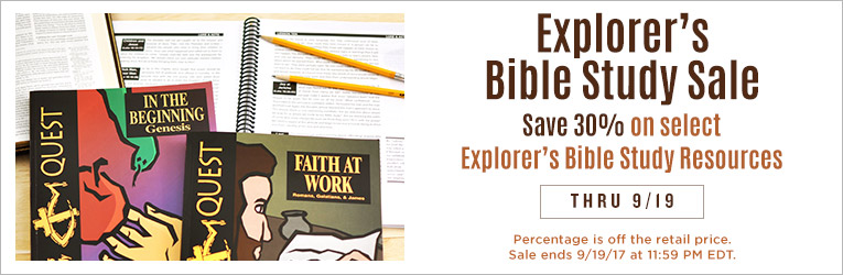 Explorer's Bible Study Sale