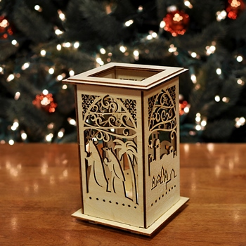 Flameless Votive Nativity