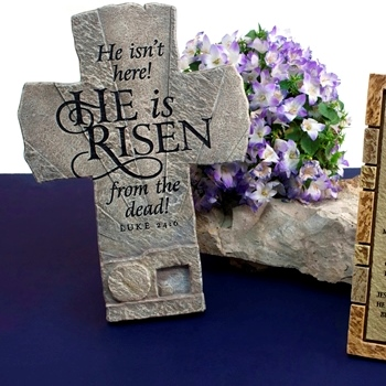 Christian easter home decor christianbook he is risen cross negle