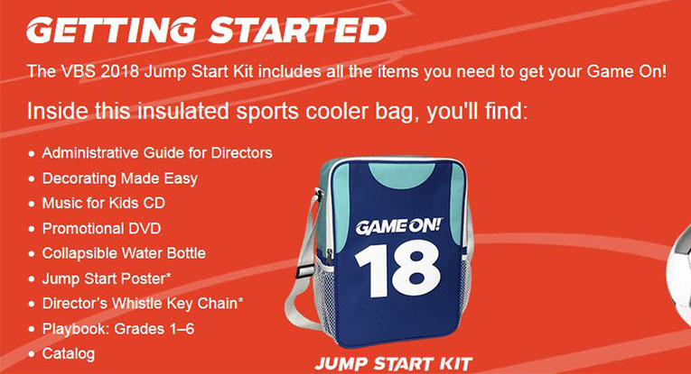 Game On! Starter Kit Contents
