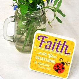 Ladybug Faith Plaque on Sale