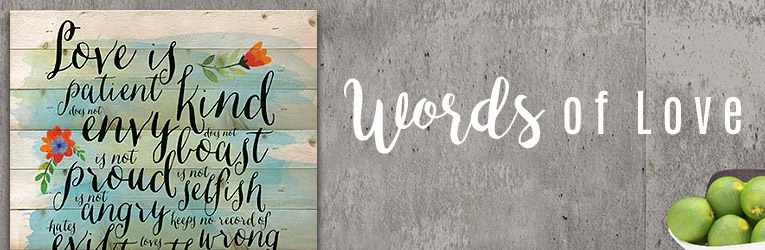 Words of Love Typography Decor