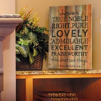 Rustic Lath Scripture Sign
