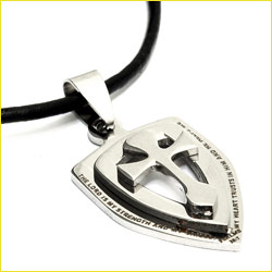 Shield Pendant Stainless Steel