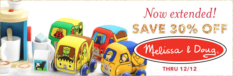 Now Extended! Melissa & Doug 30% off thru 12/12
