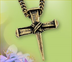 Wrapped Nail Cross Pendant