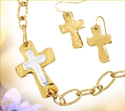 Cross & Earring Set
