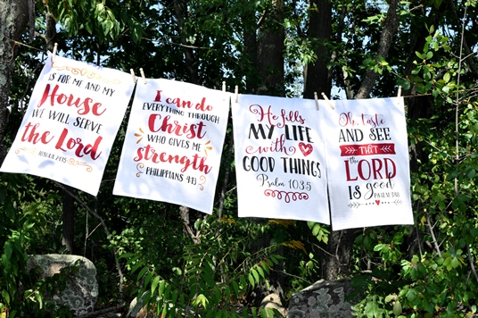 Flour Sack Scripture Towels