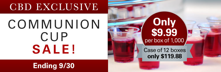 CBD Communion Cups sale through 9/30