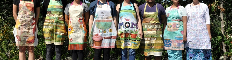 Aprons all in a row