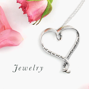 Ribbon Hearts in Sterling Silver