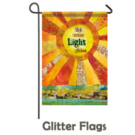 Glitter Trimmed Flags