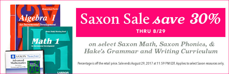 Saxon Math Promotion