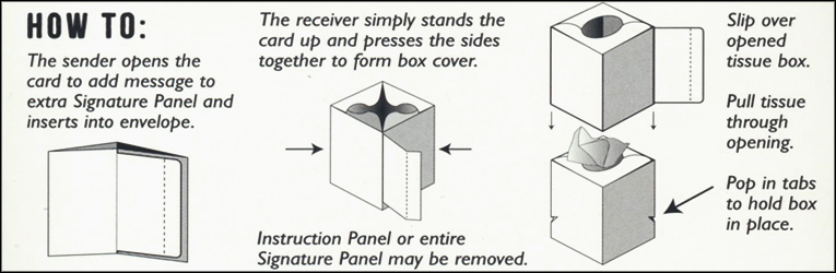 Tissue Box Card Instructions