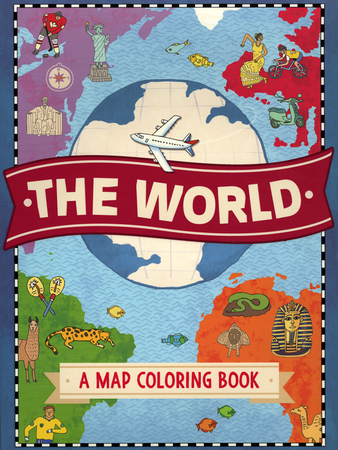 The World A Map Coloring Book