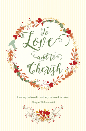 wedding program bulletin love cares love listens niv scripture