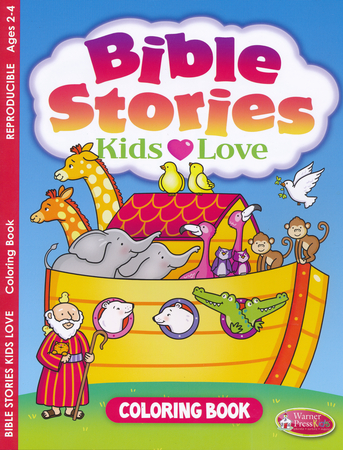 Bible Stories Kids Loves Coloring Book Ages 2 To 4 9781593178444