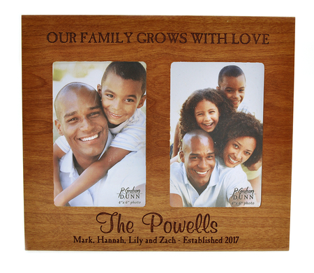 Personalized Double Photo Frame Family Cherry Christianbook