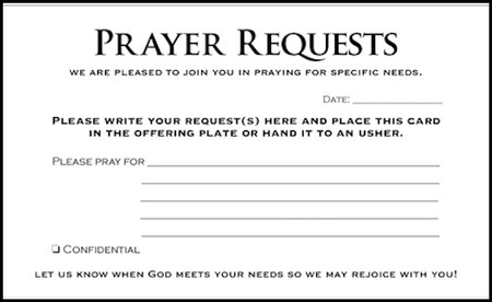Prayer Request Cards, 50 - Christianbook.Com