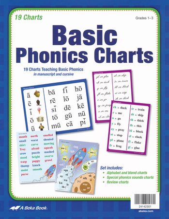 Abeka Basic Phonics Charts Grades  New Edition  ChristianbookCom