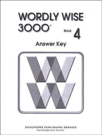 Worksheets Wordly Wise 3000 Book 4 Lesson 5 Review wordly wise 3000 grade 4 answer key for student text 9780838828489 christianbook com