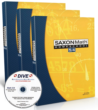 Saxon math 54 kit dive cd rom 3rd edition christianbook fandeluxe Gallery