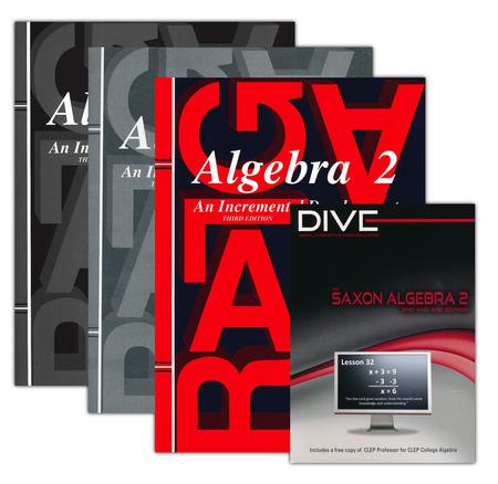 Saxon algebra 2 kit dive cd rom third edition christianbook fandeluxe Choice Image