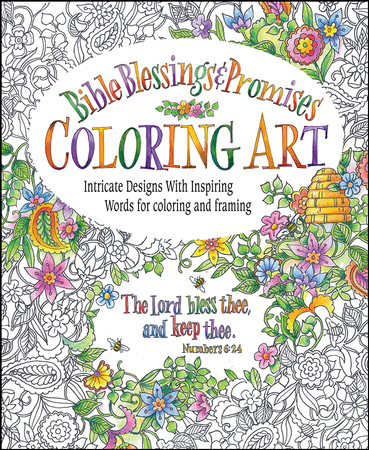 Bible Blessings Promises Coloring Book For Adults 9780996806718