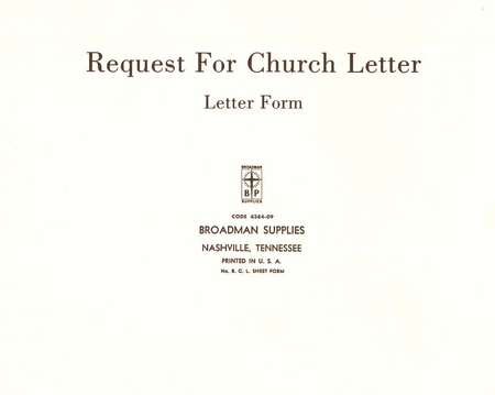 Church letter request forms rcl 50 9780805480726 christianbook thecheapjerseys Image collections