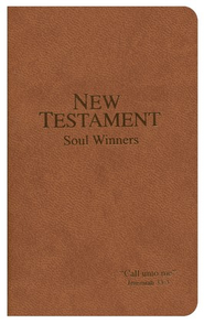 KJV Soul Winners Pocket New Testament, Brown   -