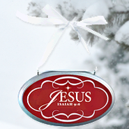 Jesus Oval Christmas Plaque Ornament  -
