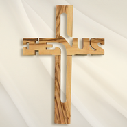 Jesus, Olive Wood Wall Cross   -