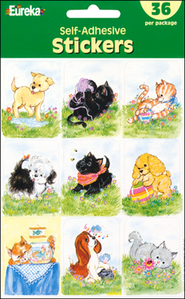 Scripture Press Puppies & Kittens Stickers    -