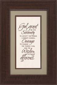Serenity Prayer Framed Print  -