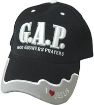 God Answers Prayers Cap Black  -