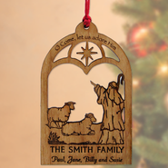 Personalized Shepherd with Sheep Ornament   -