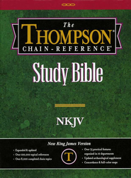 NKJV Thompson Chain-Reference Bible, Burgundy  Bonded Leather, Thumb Indexed  -