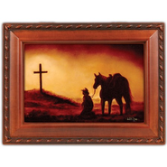 Horse and Cross Music Box, Amazing Grace  -