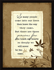 So Many People Come into Our Lives Plaque  -